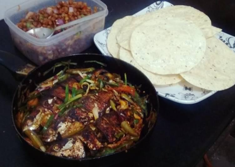 Recipe of Favorite Mackerel,Mushrooms& Papad