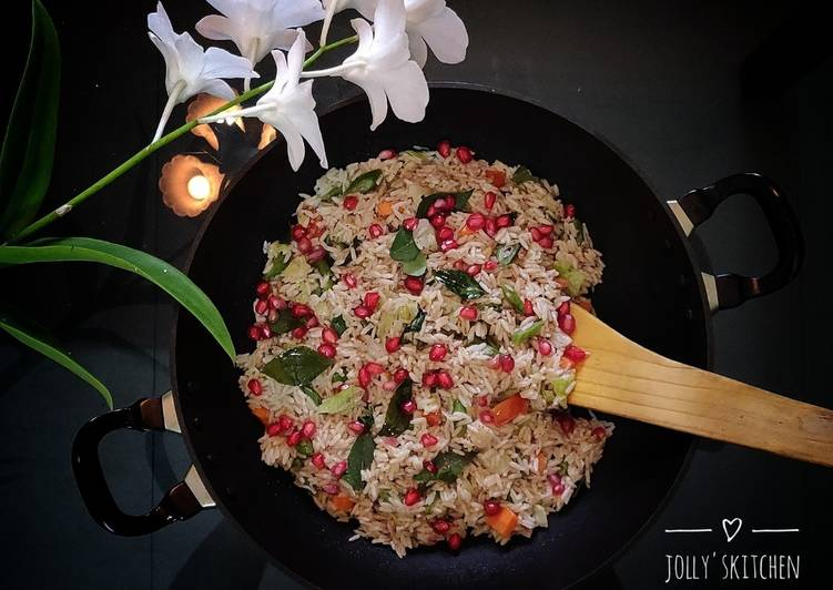 15 Minute Recipe of Quick Healthy wheat-rice pullav without onion and garlic