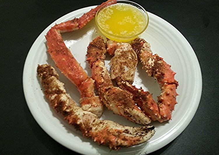 Easiest Way to Prepare Quick Steamed & Seasoned King Crab
