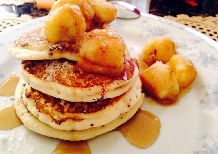 Syrup Fried Banana Pancakes