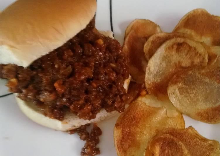 Recipe of Homemade Sloppy Joes