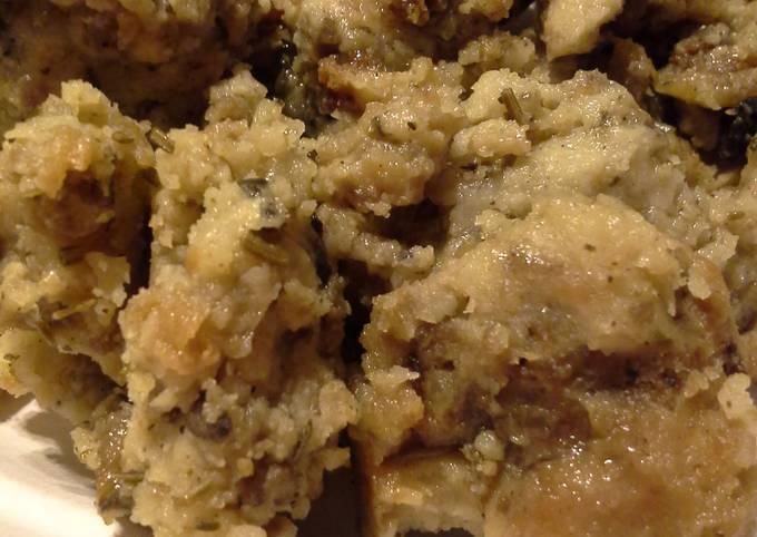 Recipe: Appetizing Mushroom and Sausage Sourdough Stuffing