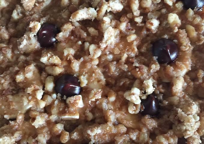Banana-Rice-Pecan Delight!  No Flour Dessert
