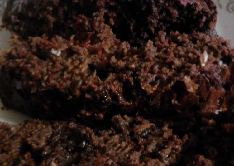 Chocolate Chocolate Chip Zucchini Beet bread