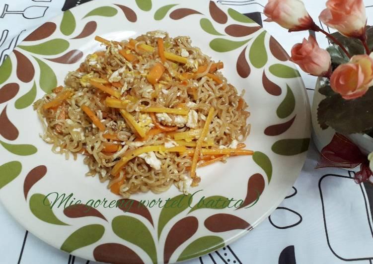 Resep Mie goreng wortel(batita)simpek enak Terbaik