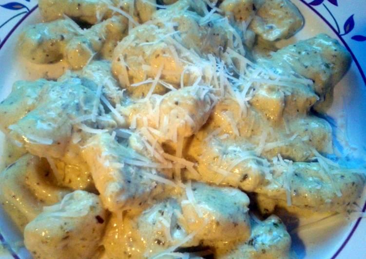 Recipe of Most Popular Gnocchi with Pesto Sauce