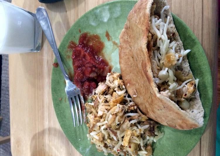 What are some Dinner Ideas Speedy Crunchy Chicken Pita