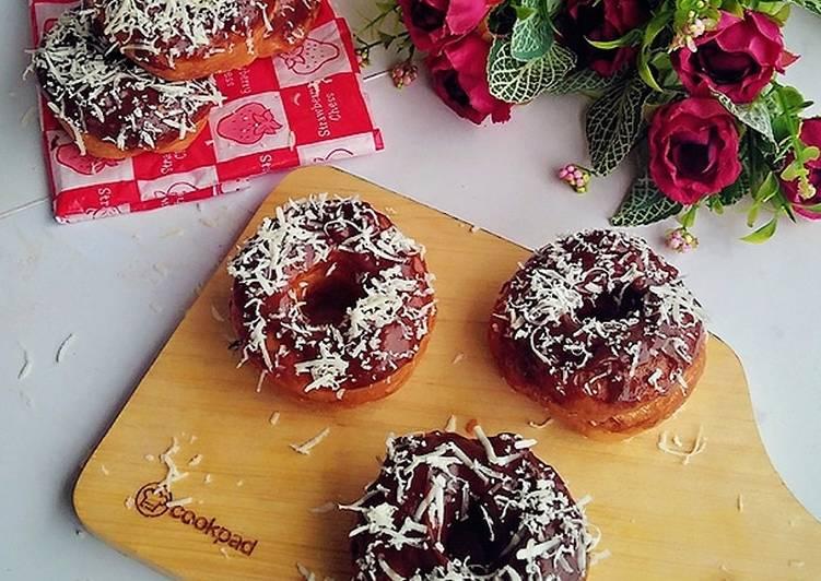Rahasia Menghidangkan Donat Kampung topping coklat keju Anti Gagal!