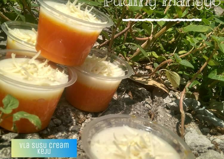 Puding mangga Vla susu creamy keju