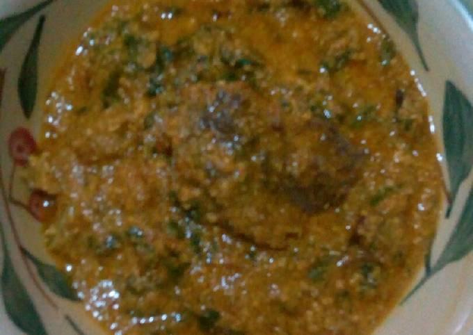 Ridi (beniseed) and Egusi soup