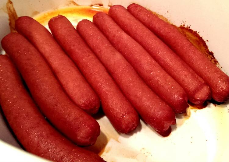 Crockpot Hot Dogs (with no added water)