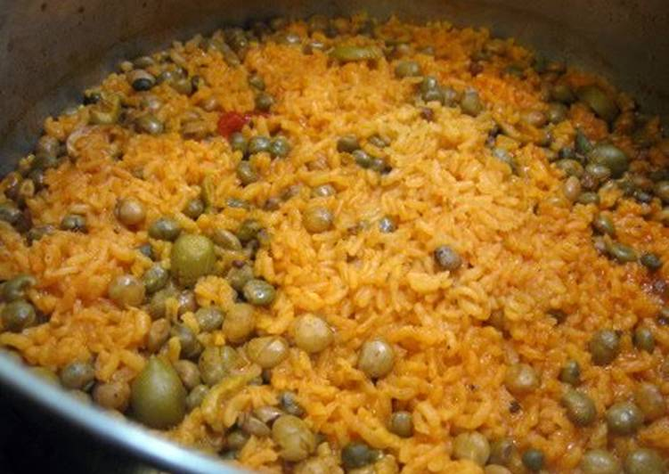 Puertorican RED Rice & Beans - Laurie G Edwards