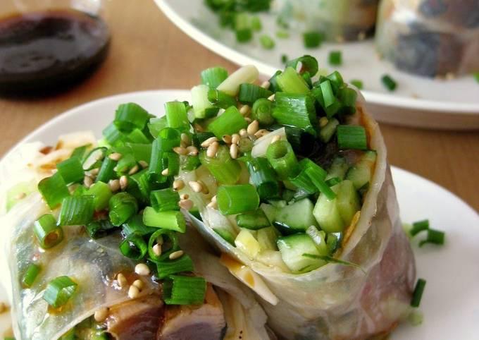 Spicy Skipjack Tuna Spring Rolls