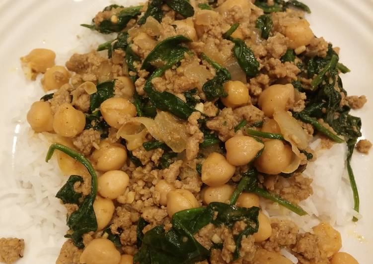 Spinach&chick pea curry Choosing Fast Food That's Good For You