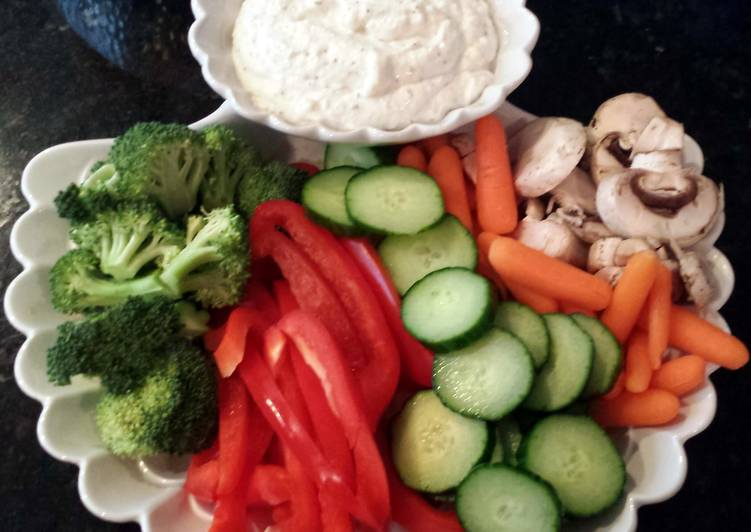 Recipe of Any-night-of-the-week Aunt Kathie's veggie dip