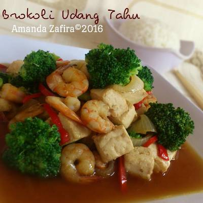 Resep Cah Brokoli Udang Tahu Oleh Amanda Garden To Table Cookpad