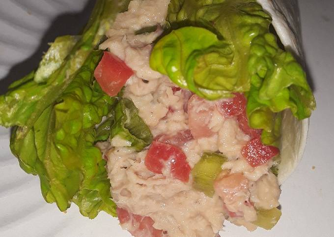 Swiss garlic n herb tuna wrap