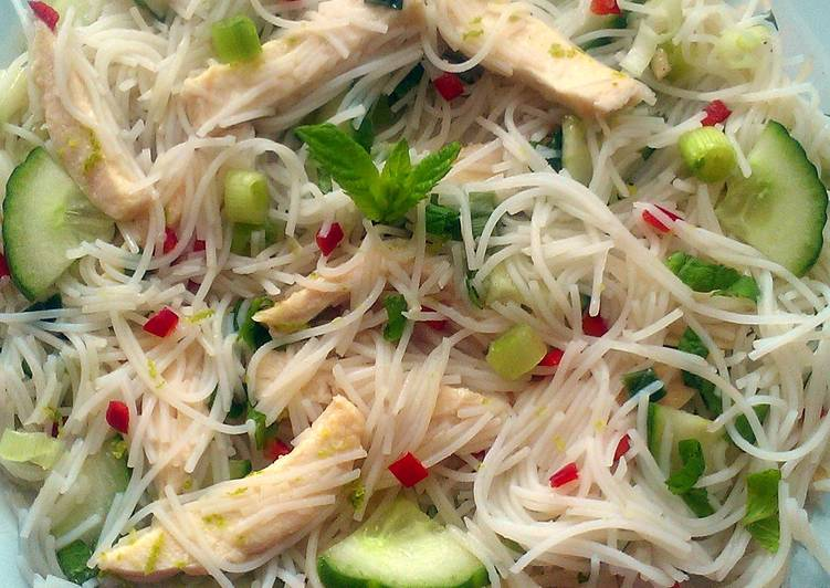 Recipe: Tasty Vickys Minty Cool As A Cucumber Noodle Salad, GF DF EF SF NF