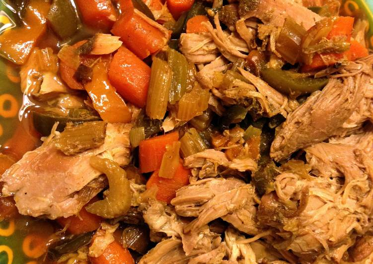 Simple Way to Prepare Perfect Easy slow cooker pork and vegetables