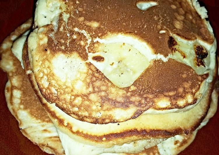Simple Way to Prepare Speedy Goin' Bananas Over Banana Pancakes