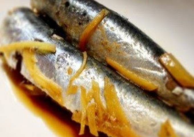Sardines Simmered in Soy Sauce