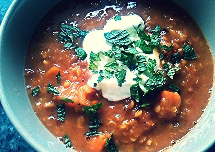 Recipe of Favorite Spiced Red Lentil Soup