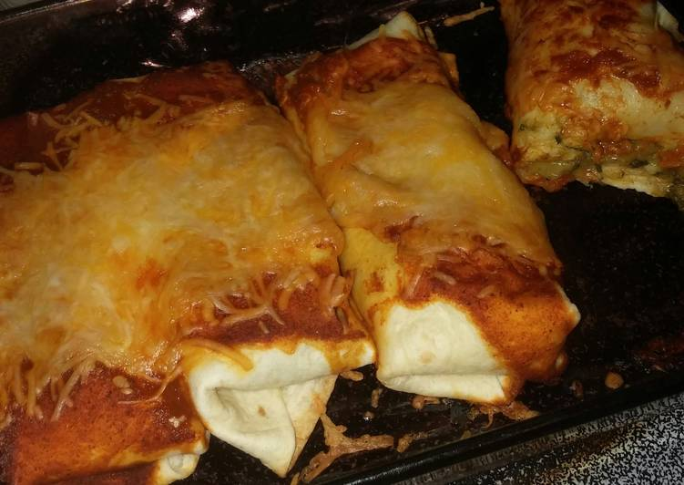Cheesey Spinach Enchilada s