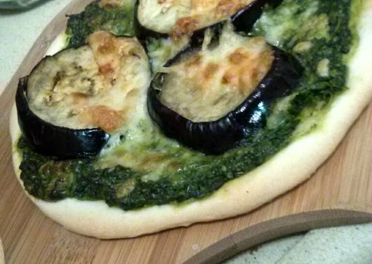 Living Greener for Greater Health By Dining Superfoods, eggplant pesto pizza