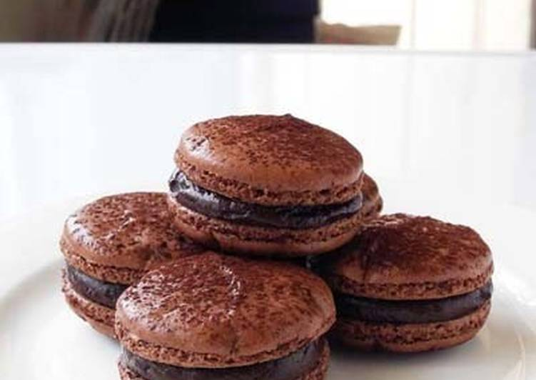 Rich Bitter Chocolate Macarons – Twisted Cookbooks