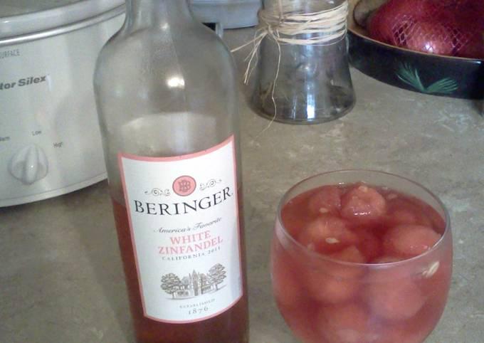 wine infused watermelon