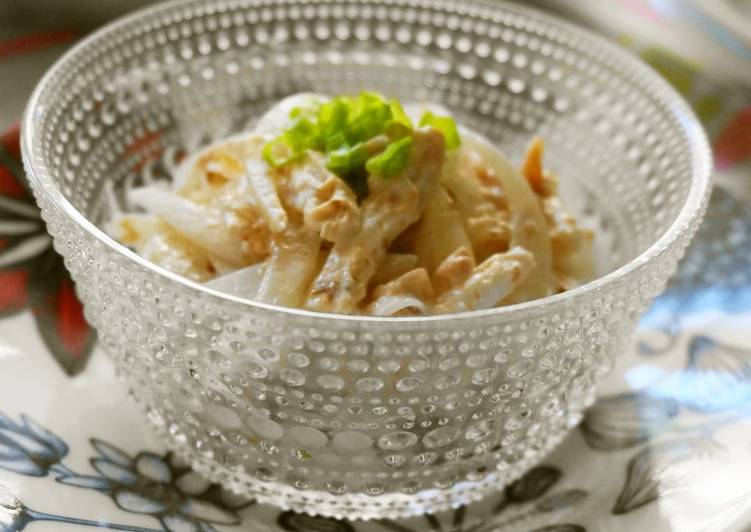 15 Minute How to Make Summer Sweet Onion & Steamed Chicken with Umeboshi and Mayonnaise