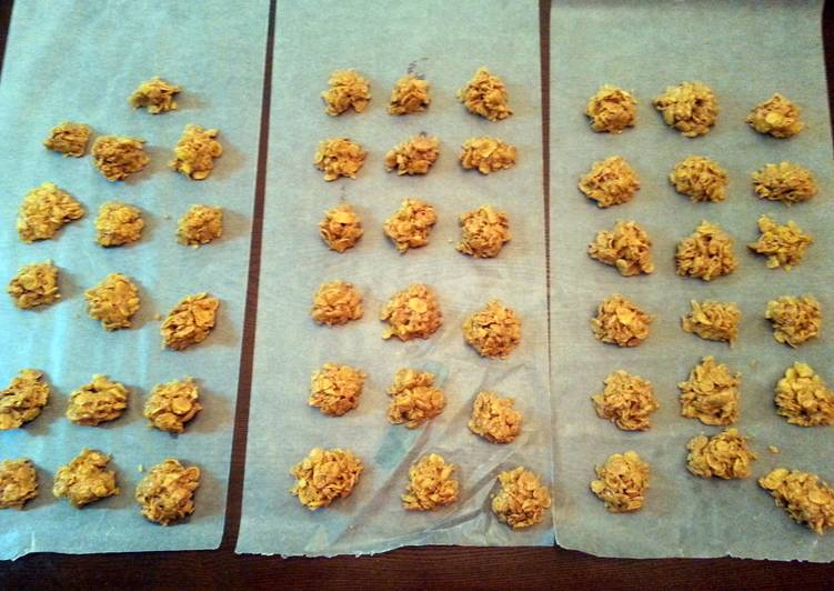 Corn Flake Peanut Butter Cookies