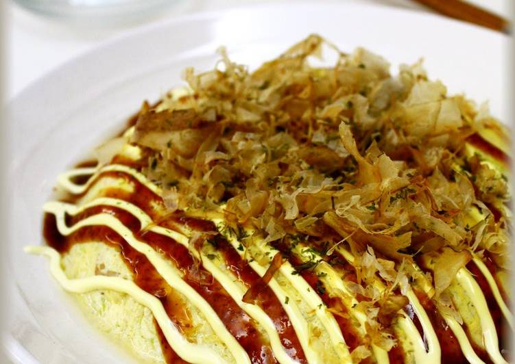 The Best Soft and Chewy Dinner Easy Autumn Easy and Microwaved Flour-free Okonomiyaki with Tofu