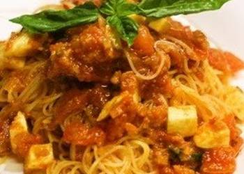 Easiest Way to Prepare Appetizing Chilled Capellini with Tomato  Mentaiko Sauce