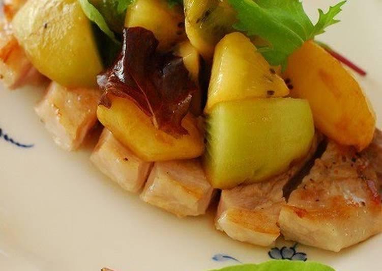 How to Make Any-night-of-the-week Sautéed Pork with Balsamic Vinegar and Kiwi Sauce