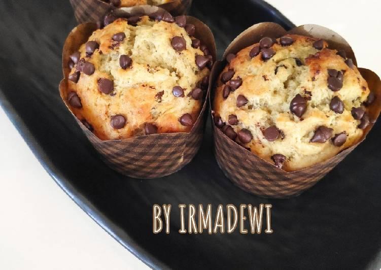 Muffin Pisang Chocochips Panggang