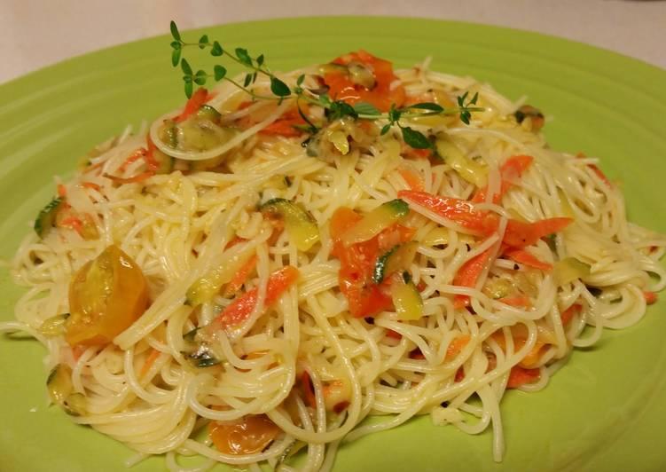 Garlic Parmesean Summertime Pasta