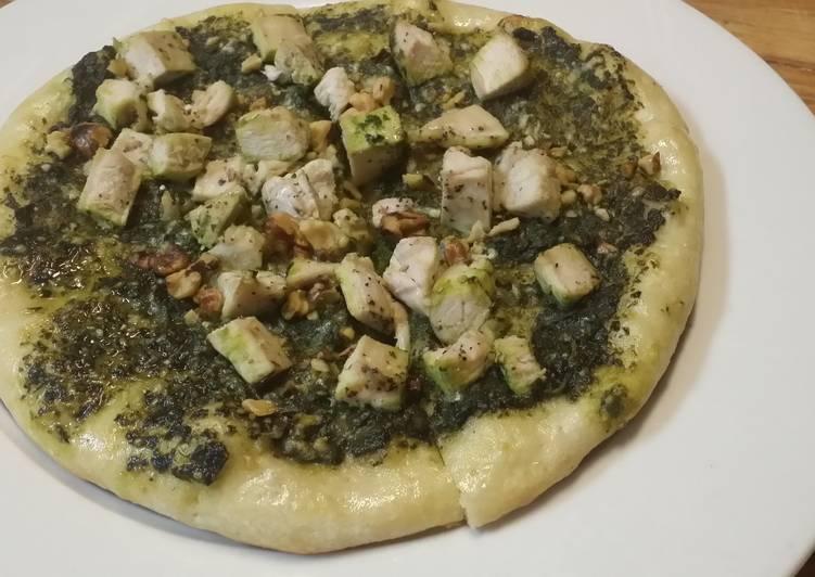 Iz's Chicken Pesto Pizza