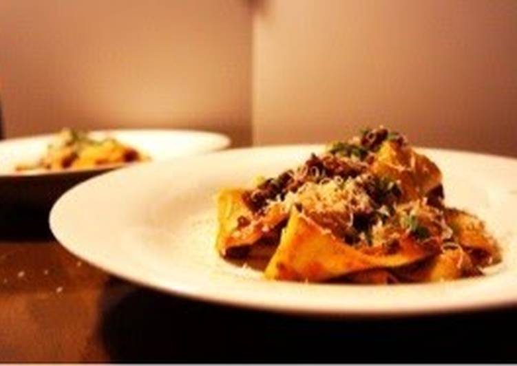Pappardelle with Ragu Sauce Recipe by