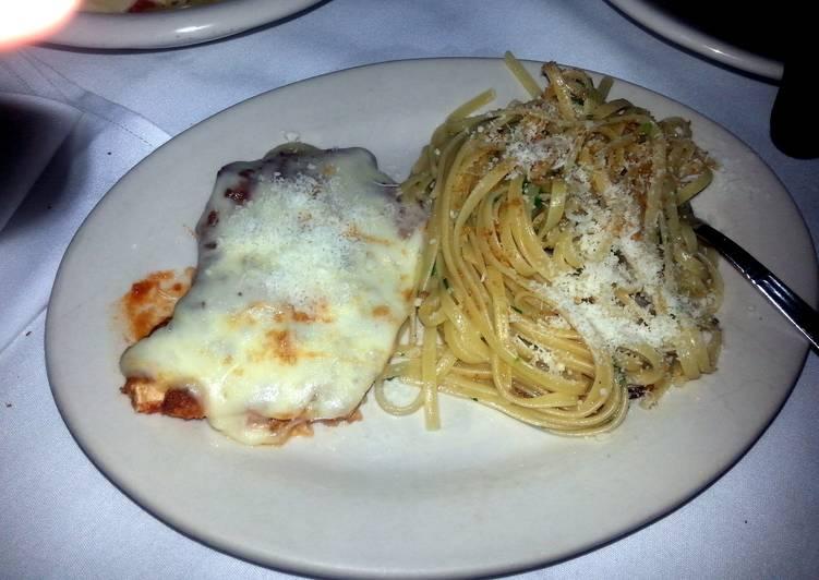 Recipe of Quick Chicken Parmesan and spaghetti
