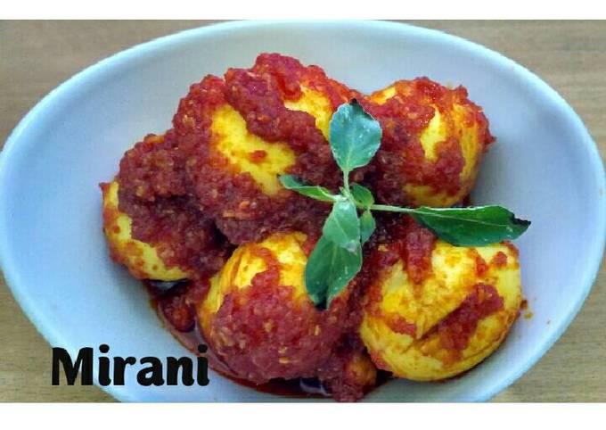 Resep Telur Balado Simple Oleh Mirani Febriani M R Cookpad