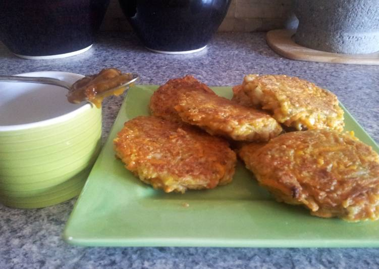 Carrot and onion fritters