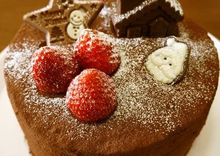 Strawberry & Chocolate Truffle Christmas Cake