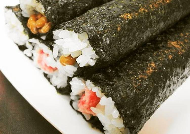 Negitoro Sushi Rolls and Natto Sushi Rolls for Setsubun