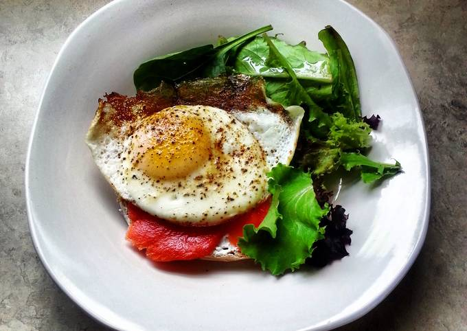 Steps to Prepare Super Quick Homemade My take on Healthy-eer Eggs Benedict