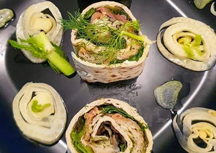 Recette Savoureux Wraps au Saumon et Fenouil