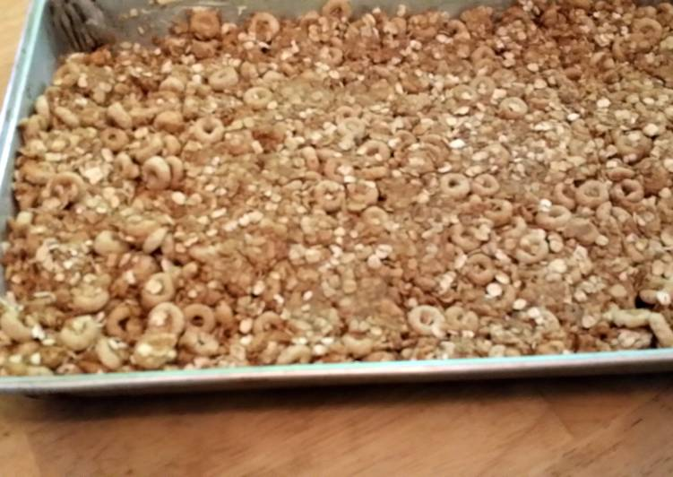 No bake flax seed PB granola bars