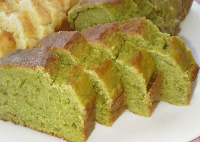 Superb! Non-Oil Okara Pound Cake (Green Tea Flavor)