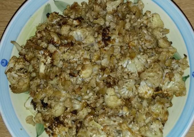 Cauliflower with curry & honey