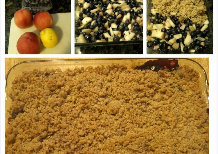 Recipe of Any-night-of-the-week Blueberries and Peach Crumble
